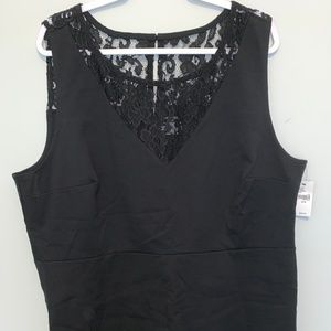 Black sleeveless top with lace 26/28